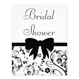 Bridal Swirls Shower Invitation Black