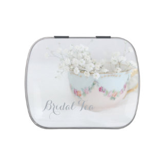 Bridal Tea Shower After Dinner Mints Favors Jelly Belly Candy Tins