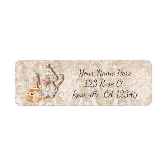 Bridal Tea Shower & Cake Vintage Invitation Return Address Label
