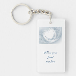 Bridal Veil Double-Sided Rectangular Acrylic Key Ring