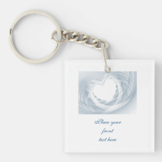 Bridal Veil Double-Sided Square Acrylic Key Ring