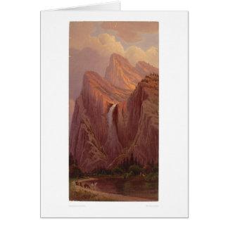 Bridal Veil Fall, Yosemite Valley (0128A) Greeting Card