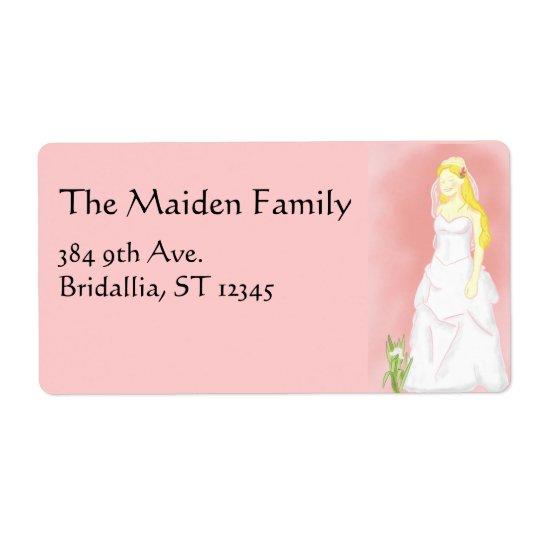 Bridal Wedding Dress Label