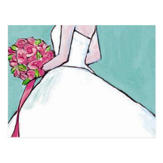 Bridal Wedding Shower Invitation Postcard