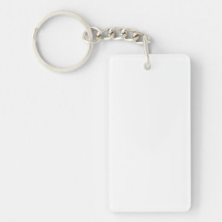 Bridal White Rectangle Acrylic Keychains