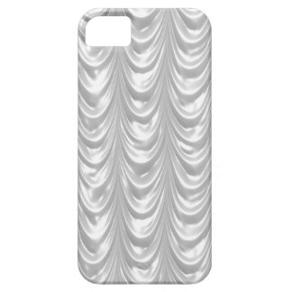 Bridal White Ruched Satin Fabrc Scalloped Pattern Barely There iPhone 5 Case