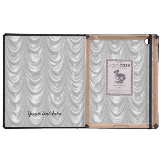 Bridal White Satin fabric with Scalloped Pattern iPad Cover