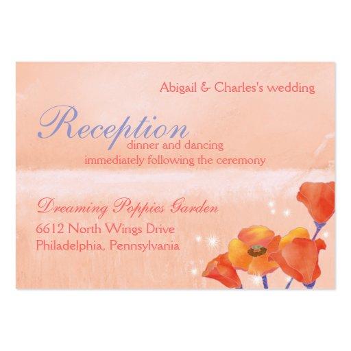 BridalHeaven Poppy Wedding Reception (3.5x2.5) Business Card Template