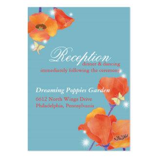 BridalHeaven Poppy Wedding Reception (3.5x2.5) Business Card