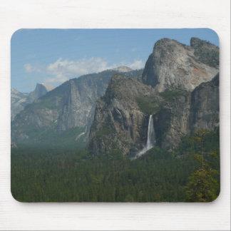 Bridalveil Falls and Half Dome in Yosemite Park Mouse Pad