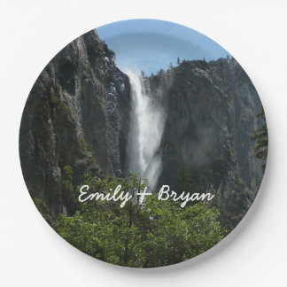 Bridalveil Falls at Yosemite National Park Paper Plate