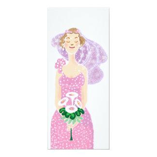 Bride 10 Cm X 24 Cm Invitation Card