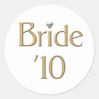 Bride '10 round sticker