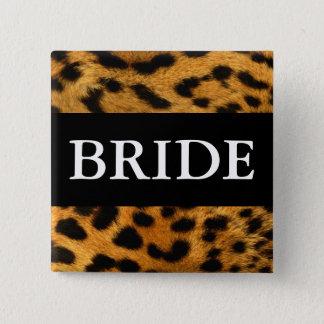 Bride 15 Cm Square Badge