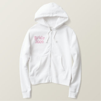 Bride 2009 Just Married Embroidered Hoodie