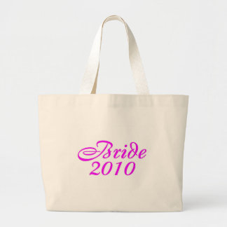 Bride 2010 (Pink) Large Tote Bag