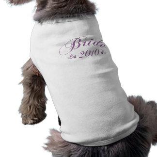 Bride 2010 purple pet clothing