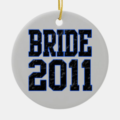 Bride 2011 christmas ornament