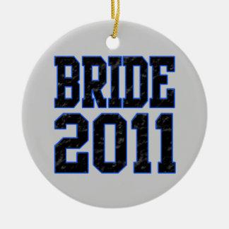 Bride 2011 round ceramic decoration