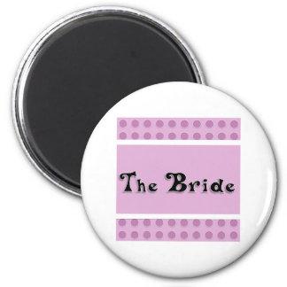 Bride 6 Cm Round Magnet