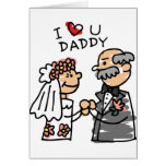 Bride And Father On Wedding Day Before Ceremony Greeting Card
