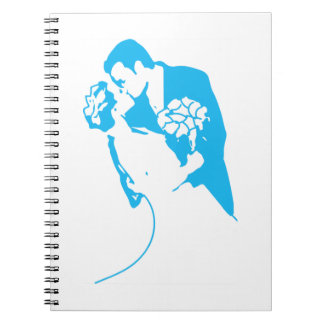 Bride and Groom 01 Light Blue Notebook