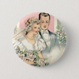 Bride and Groom 6 Cm Round Badge