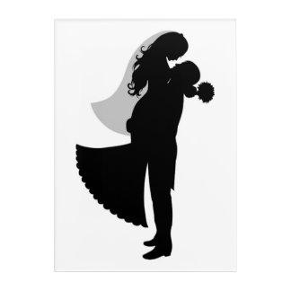 BRIDE AND GROOM ACRYLIC WALL ART