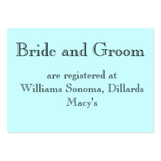 Bride and Groom, are registered at... Pack Of Chubby Business Cards
