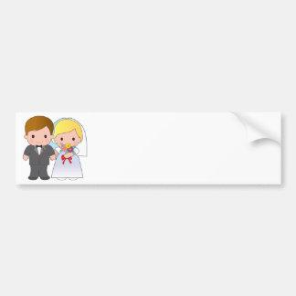 Bride and Groom Bumper Sticker