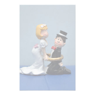 Bride and groom cake topper custom stationery