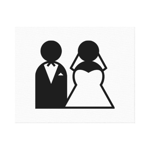 Bride and Groom Gallery Wrapped Canvas