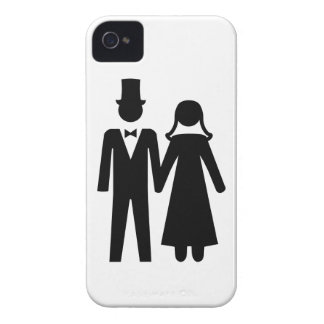 Bride and Groom iPhone 4 Case-Mate Case