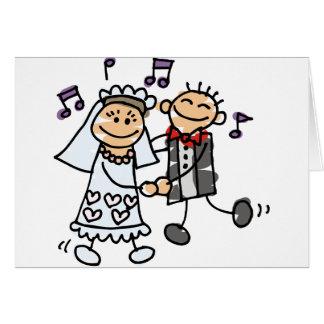 Bride and Groom Celebrate Greeting Card