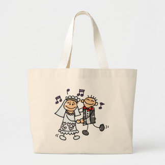 Bride and Groom Celebrate Jumbo Tote Bag