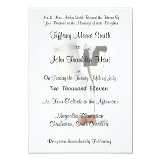 "Bride and Groom Champagne Wedding Invitations 5"" X 7"" Invitation Card"