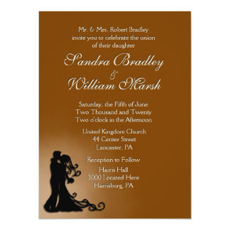 Bride and Groom Chocolate 14 Cm X 19 Cm Invitation Card