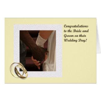 Bride and Groom Congratulations Card