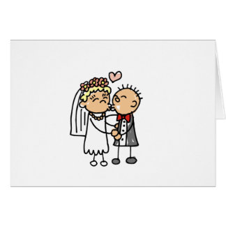 Bride and Groom Declare Love Greeting Card