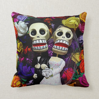 Bride And Groom DOD Throw Pillow