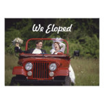 Bride and Groom Elopement / Reception Announcement Custom Invitations
