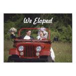 Bride and Groom Elopement / Reception Announcement Custom Invitations