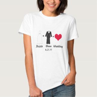 Bride and Groom equals Wedding shirt