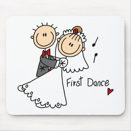 Bride and Groom First Dance T-shirts and gifts Mouse Pad