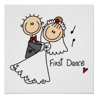 Bride and Groom First Dance T-shirts and gifts Poster