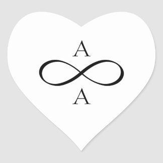 Bride and Groom Forever Infinity Heart Sticker