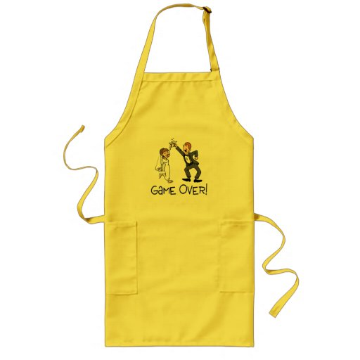 Bride and Groom Game Over Aprons