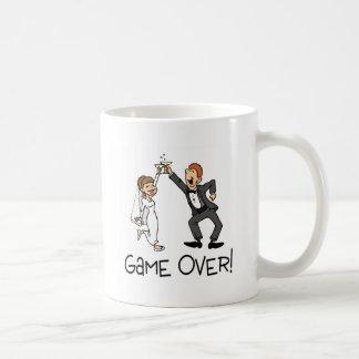 Bride and Groom Game Over Wedding Basic White Mug