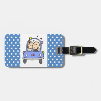 Bride and Groom in Car Luggage Tag