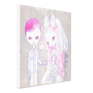 Bride And Groom Love Gallery Wrapped Canvas